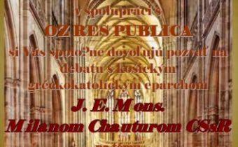 Beseda s J. E. Mons. Milanom Chauturom CSsR